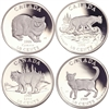 1999 50-cent Cats of Canada Sterling Silver 4-coin Set