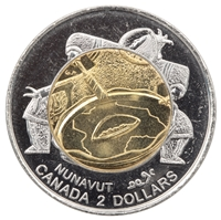1999 Canada Nunavut Two Dollar Brilliant Uncirculated (MS-63)