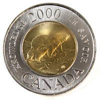 2000 Canada Knowledge Two Dollar Brilliant Uncirculated (MS-63)