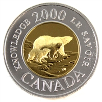 2000 Canada Knowledge Two Dollar Silver Proof