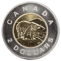 2000 Canada Polar Bear Two Dollar Specimen