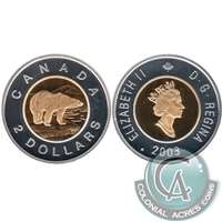 2003 Canada Old Effigy Two Dollar Silver Proof