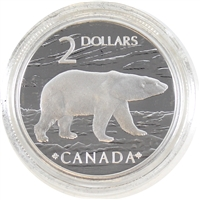 2004 Canada Silver Proud Polar Bear Two Dollar Proof (from stamp set)