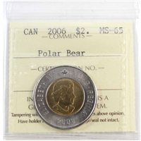 2006 Canada Two Dollar ICCS Certified MS-65