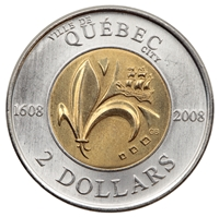 2008 Canada Quebec City Two Dollar Brilliant Uncirculated (MS-63)