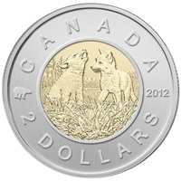 2012 Wolf Pups Canada Two Dollar Specimen