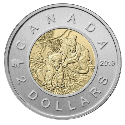 2013 Black Bear Canada Two Dollar Specimen