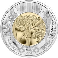 2014 Canada Wait for Me, Daddy Two Dollar Brilliant Uncirculated MS-63