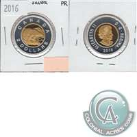 2016 Canada Two Dollar Silver Proof