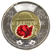 2018 Coloured Armistice Canada Two Dollar Brilliant Uncirculated (MS-63)