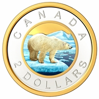 2020 Coloured Canada $2 Silver Proof (No Tax)