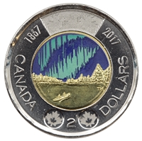 2017 Coloured Dance Canada Two Dollar Brilliant Uncirculated (MS-63)