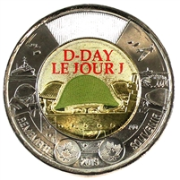 2019 Coloured D-Day Two Dollar Brilliant Uncirculated (MS-63)