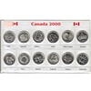 2000 Millennium Small Sleeve with all 12 commemorative coins.
