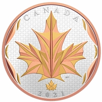 2021 Canada $50 Maple Leaves in Motion Fine Silver (No Tax)