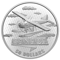 2021 Canada $50 First 100 Years of Confederation: Canada Takes Wing Silver Coin (No Tax)