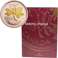 2003 Royal Canadian Mint's Annual Report with Gold Plated 1 Cent