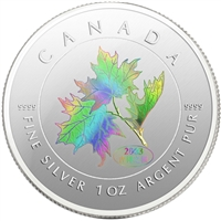 2003 Canada $5 Maple of Good Fortune Hologram Silver Maple (No Tax)