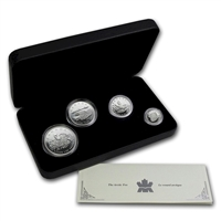 2004 Canada Fractional Arctic Fox .9999 Silver 4-coin Set (No Tax) Toning Spots