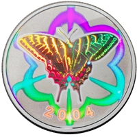 2004 Canada 50-cent Butterfly - Tiger Swallowtail Sterling Silver (#1)