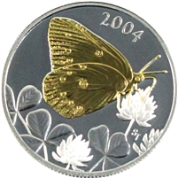 2004 Canada 50-cent Butterfly - Clouded Sulphur Sterling Silver (#2)