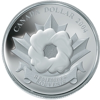 RDC 2004 Canada Special Edition The Poppy Proof Silver Dollar (No Tax) missing sleeve