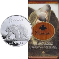 2004 Canada The Great Grizzly Bear $8 Coin and Stamp Set (scuffed sleeve)