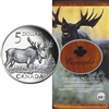 2004 Canada Majestic Moose $5 Coin and Stamp Set (No Tax) scuffed sleeve