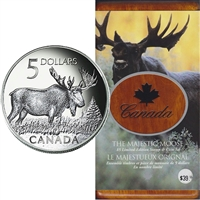 2004 Canada Majestic Moose $5 Coin and Stamp Set (scuffed sleeve)