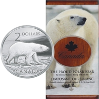 2004 Canada Proud Polar Bear $2 Coin and Stamp Set (scuffed sleeve)