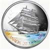 2005 Canada $20 Tall Ships - Three Masted Ship Fine Silver (No Tax)