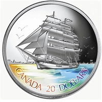 2005 Canada $20 Tall Ships - 3-Masted Ship Fine Silver (No Tax)
