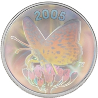 2005 Canada 50-cent Butterfly - Great Spangled Fritillary Sterling Silver