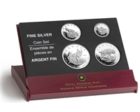 2005 Canada Fractional The Lynx .9999 Fine Silver 4-coin Set (No Tax)
