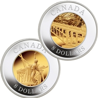 2005 Canada $8 Chinese Railway Workers Fine Silver 2-Coin Set (No Tax)