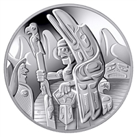 2005 Canada $30 Totem Pole Sterling Silver Coin (Lightly Toned)