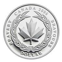 2006 Canada Medal of Bravery Special Edition Proof Silver Dollar (No Tax)