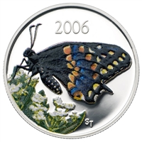 RDC 2006 Canada 50-cent Butterfly - Short Tailed Swallowtail Sterling Silver - Impaired