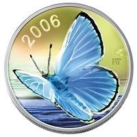2006 Canada 50-cent Butterfly - Silvery Blue Sterling Silver (#6)