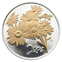 2006 50-cent Canadian Floral - Golden Daisy Sterling Silver