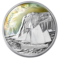 2006 Canada $20 Tall Ships Collection - The Ketch Fine Silver (No Tax)