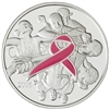 2006 Canada $5 Breast Cancer Pink Ribbon Fine Silver Coin (TAX Exempt)