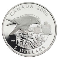 2006 Canada Peregrine Falcon & Nestlings $5 Coin & Stamp Set