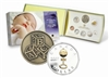 RDC 2007 Canada Baby Sterling Silver Proof Set w/ Gold Plated Dollar (Impaired)