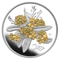 2007 50-cent Canadian Floral Collection - Golden Forget-Me-Not Sterling