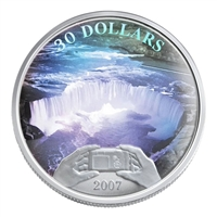 2007 Canada $30 Panoramic Camera: Niagara Falls Sterling Silver