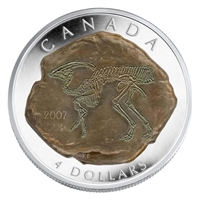 RDC 2007 Canada $4 Dinosaur Collection - Parasaurolophus (#1) No Tax - Scratched