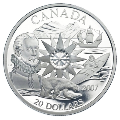 RDC 2007 Canada $20 International Polar Year Sterling Silver (scuffed sleeve)