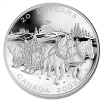 2007 Canada $20 Holiday Sleigh Ride Fine Silver Coin (TAX Exempt)