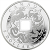 2007 Canada $8 Fine Silver Chinese Square Hole Coin (TAX Exempt) Scratched Capsule